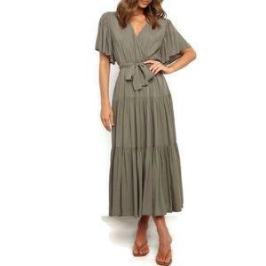 Petal + Pup Olive Barker Dress